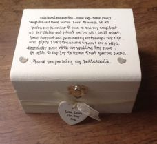 Shabby Personalised chic Bridesmaid Sister Maid Or Matron Of Honour Etc Box gift